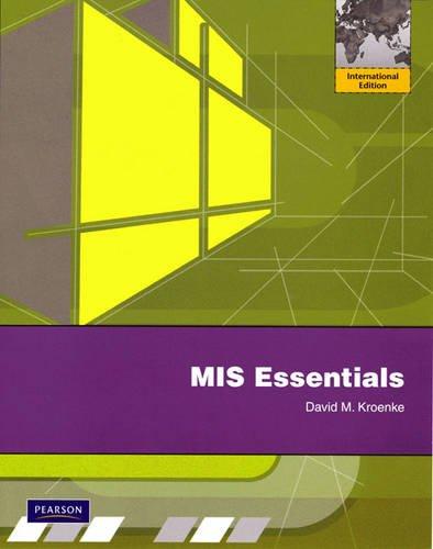9780131364707: MIS Essentials: International Version