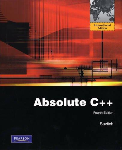 9780131365841: Absolute C++: International Edition