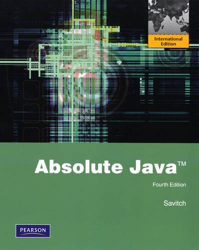 9780131365896: Absolute Java: International Edition
