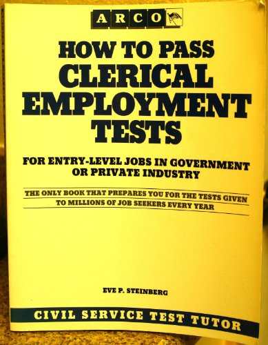 9780131367487: How to Pass Clerical Employment Tests (Arco Employment Guides)
