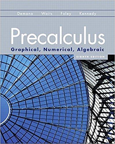 9780131369061: Precalculus: Graphical, Numerical, Algebraic (8th Edition)