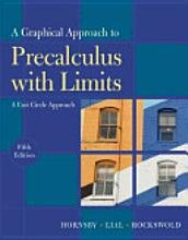 9780131369924: A Graphical Approach to Precalculus with Limits: A Unit Circle Approach