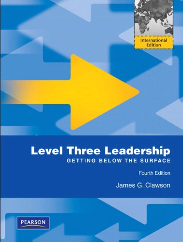 9780131373075: Level Three Leadership: Getting Below the Surface