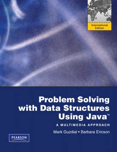 9780131377080: Problem Solving with Data Structures Using Java: International Version: A Multimedia Approach
