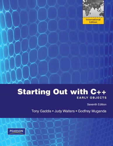 9780131377141: Starting Out with C++: International Version: Early Objects