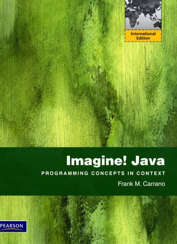 9780131377158: Imagine! Java: International Version: Programming Concepts in Context