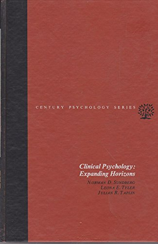 9780131378773: Clinical Psychology: Expanding Horizons.