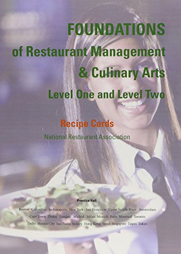 9780131380141: Recipe Cards for Foundations of Restaurant Management & Culinary Arts: Levels 1 and 2