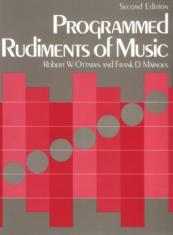 9780131380424: Programmed Rudiments of Music