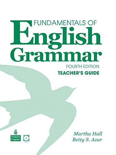 Martha Hall Betty Azar Fundamentals English Grammar Teachers Guide