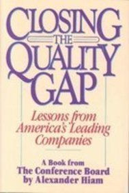 9780131384132: Closing the Quality Gap: Lessons from America's Leading Companies