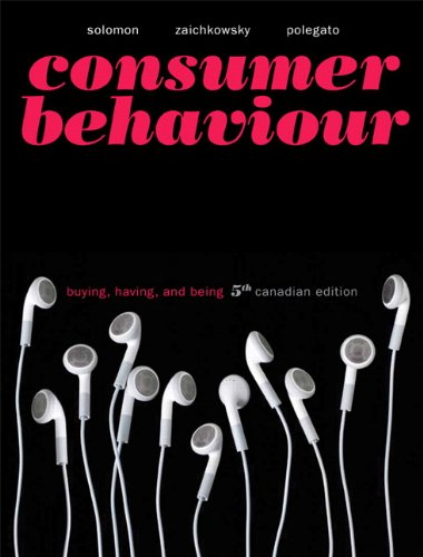 9780131384323: Consumer Behaviour: Buying, Having, and Being, Fifth Canadian Edition with MyMarketingLab (5th Edition)