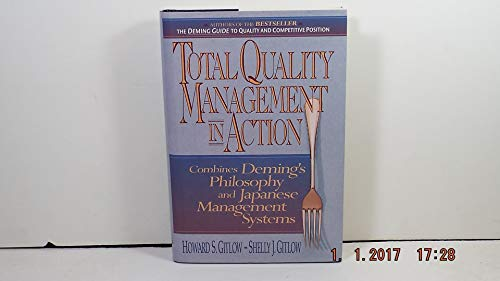 9780131386037: Total Quality Management in Action