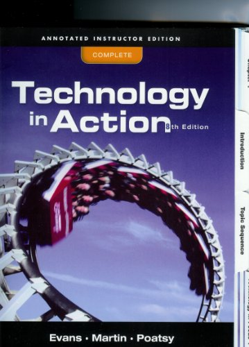 9780131390324: Annotated Instructor's Edition for Technology in Action, Complete, 8E