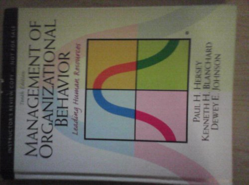 9780131391369: Management of Organizational Behavior