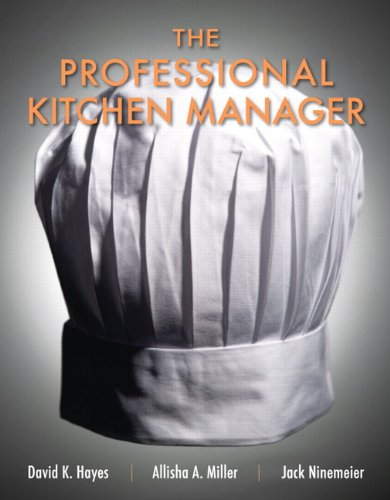 9780131391741: The Professional Kitchen Manager