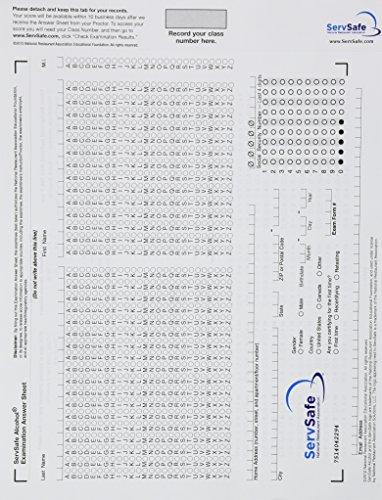 9780131392762: Exam Answer Sheet for ServSafe Alcohol: Fundamentals of Responsible Alcohol Service