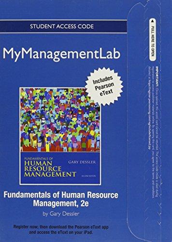 9780131393486: NEW MyManagementLab with Pearson eText -- Access Card -- for Fundamentals of Human Resources Management (MyManagementLab (access codes))