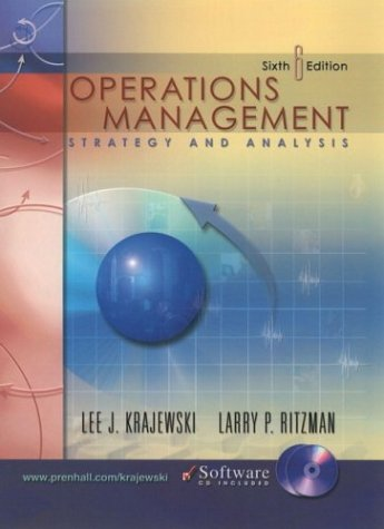 9780131396104: Operations Management and CD-ROM Package (6th Edition)