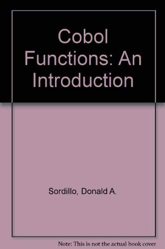 9780131399402: Cobol Functions: An Introduction