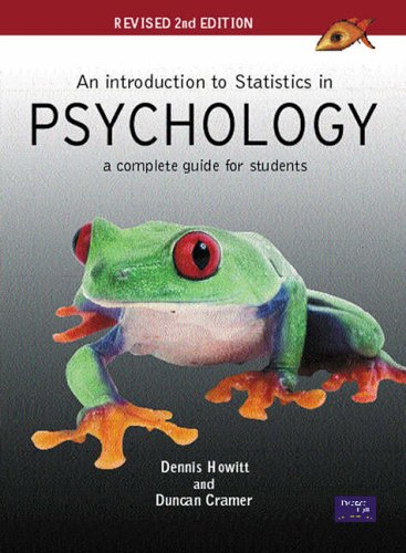 9780131399822: An Introduction to Statistics in Psychology: A Complete Guide for Students