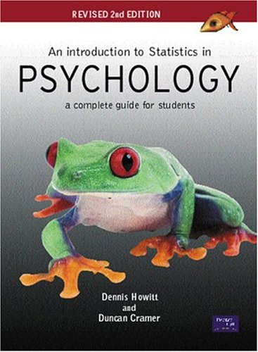 9780131399822: An Introduction to Statistics in Psychology