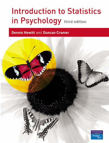 9780131399853: Introduction to Statistics in Psychology