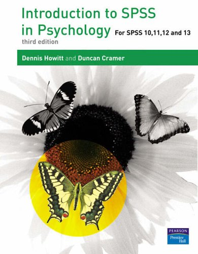 9780131399860: Introduction to SPSS in Psychology: For SPSS 10, 11, 12 and 13