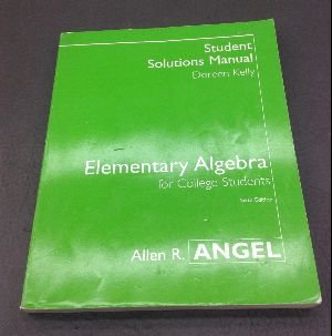 9780131400252: Elementary Algebra for College Students (Student Solutions Manual)