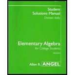 Elementary Algebra for College Students (Student Solutions: Allen R. Angel,