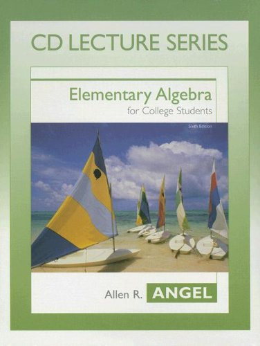 9780131400320: Elementary Algebra for College Students (CD Lecture Series)