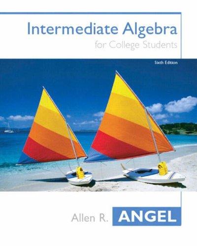 9780131400597: Intermediate Algebra for College Students, Sixth Edition