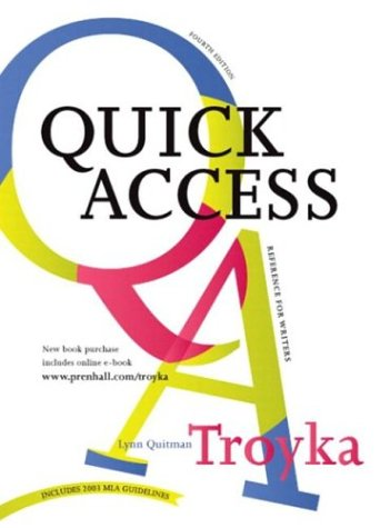 9780131400818: Simon and Schuster Quick Access Reference for Writers