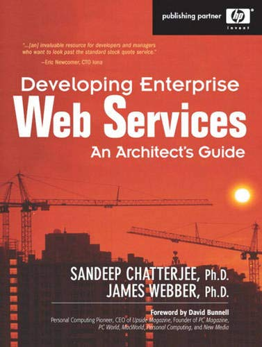 9780131401600: Developing Enterprise Web Services: An Architects Guide (Hewlett-Packard Professional Books)