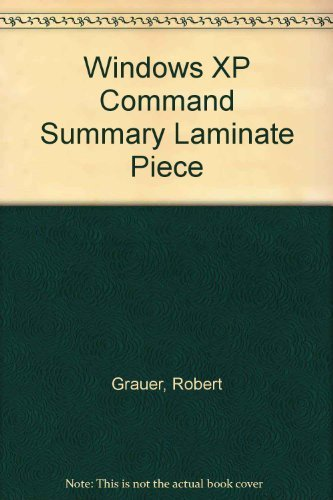 9780131401778: Windows XP Command Summary Laminate Piece