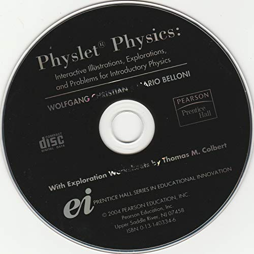 9780131403345: PHYSLET PHYSICS: INTERACTIVE ILL, EXPLORATIONS, AND PROBLEMS FOR INTRO PHYSICS (ONE CD-ROM; 2004)