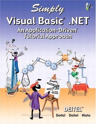 9780131405530: Simply Visual Basic .NET (Simply Series)