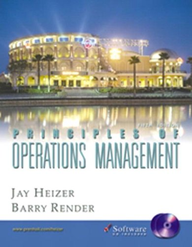 Principles of Operations Management and Student CD-ROM,: Jay Heizer, Barry
