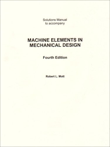 9780131408739: Solutions Manual to accompany Machine Elements in Mechanical Design