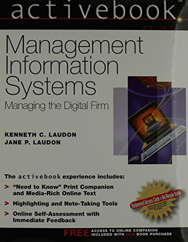 9780131409163: ActiveBook, Management Information Systems (8th Edition)