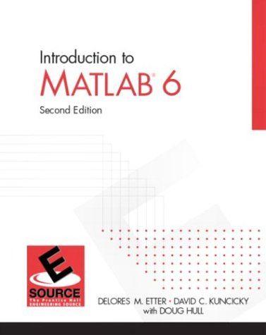 9780131409187: Introduction to MatLAB 6, Second Edition