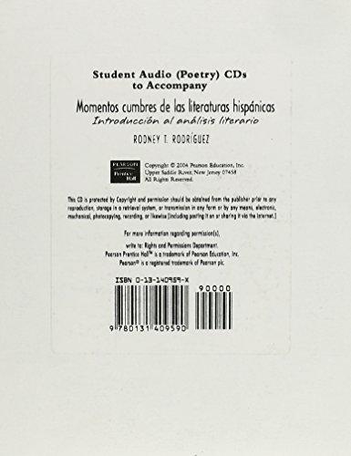9780131409590: Momentos Cumbres de las Literaturas Hispanicas: Student Audio CD: Introduccion al Analisis Literario