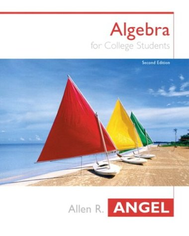 9780131410855: Algebra For College Students (2nd Edition) (Angel Hardback Series)