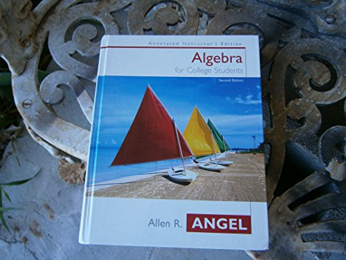 9780131410923: Algebra for College Students Annotated Instructor's Edition