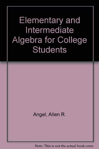 9780131411241: Elementary and Intermediate Algebra for College Students
