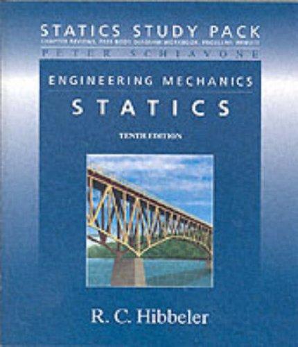 Statics Study Pack for Engineering Mechanics: Statistics: Hibbeler Russell C.