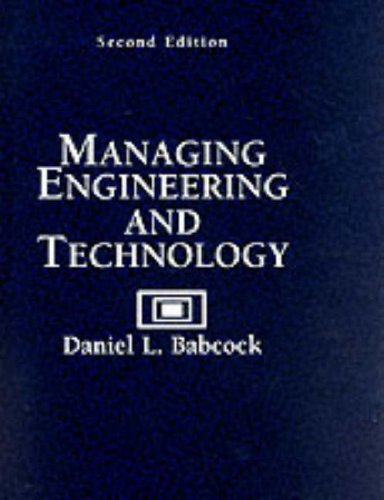 9780131413924: Managing Engineering and Technology