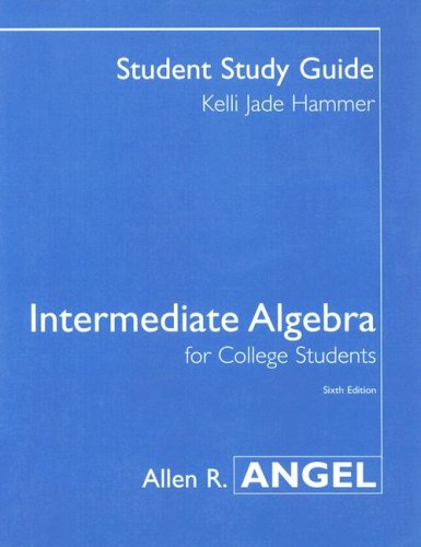 9780131417588: Intermediate Algebra for College Students Student Study Guide