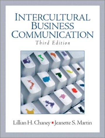 9780131419308: Intercultural Business Communication
