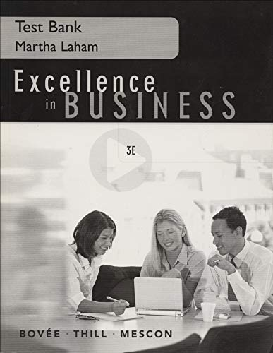 9780131419667: Excellence in Business Communication: Test Bank